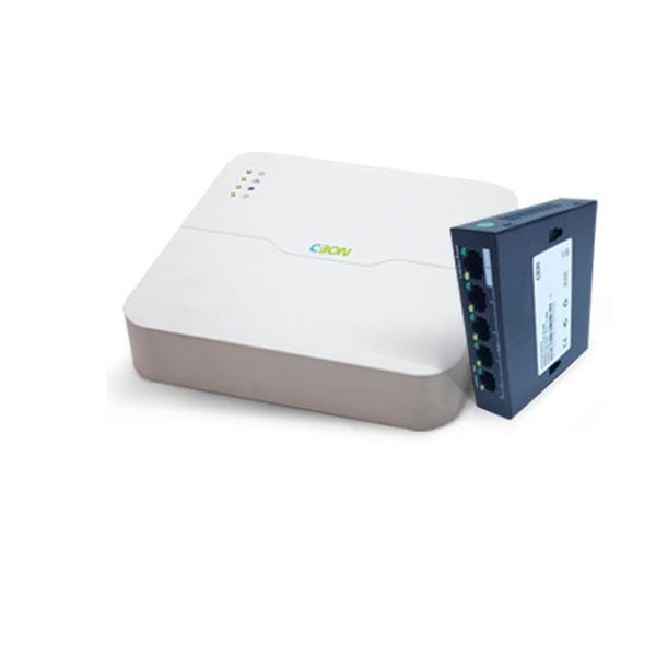 دستگاه ذخیره ساز تصویر تحت شبکه سیبن CN-0411 and Switch